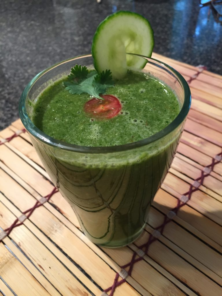 Lunch FMD Day 4: Savory Kale Smoothie